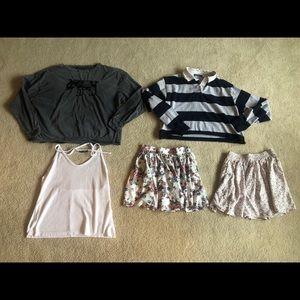 Brandy Melville bundle lot halter, elephant skirt
